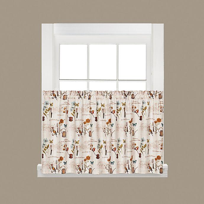 Alternate image 1 for Le Jardin 24-Inch Kitchen Window Curtain Tiers in Cream