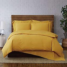 Brooklyn Loom® Solid 3-Piece King Duvet Cover Set in Mustard