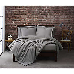 Sean John® Solid Cotton Percale 3-Piece Duvet Cover Set