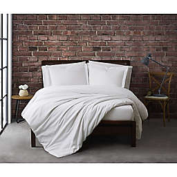 Sean John® Solid Cotton Percale 2-Piece Twin XL Duvet Cover Set in White