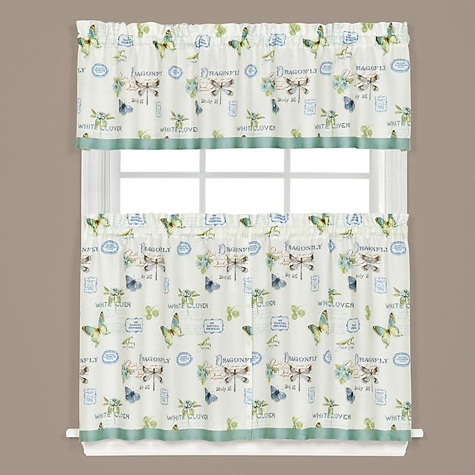 Garden Discovery Kitchen Window Curtain Tiers And Valance