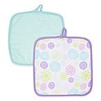 MiracleWare Bursts Muslin 2-Pack Baby Washcloth Set