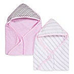 Miracle Blanket® 2-Pack Muslin Hooded Towel in Pink