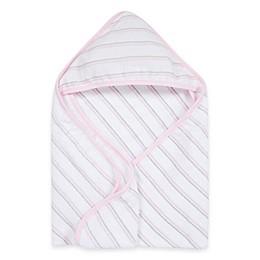 MiracleWare Muslin Hooded Towel in Pink & Grey