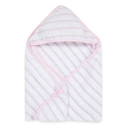 MiracleWare Muslin Hooded Towel in Pink & Grey