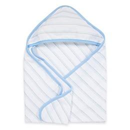 MiracleWare Muslin Hooded Towel in Blue & Grey