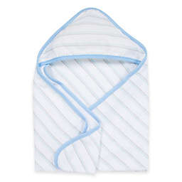MiracleWare Muslin Hooded Towel in Blue & Grey