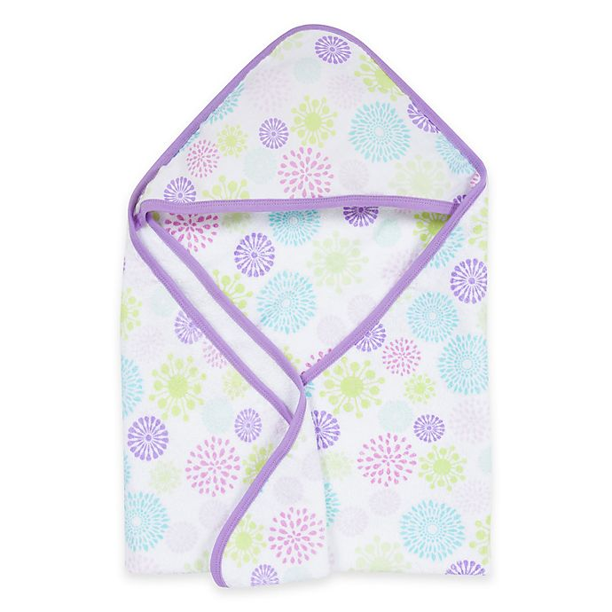 Alternate image 1 for MiracleWare Colorful Bursts Muslin Hooded Towel