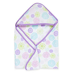 MiracleWare Colorful Bursts Muslin Hooded Towel
