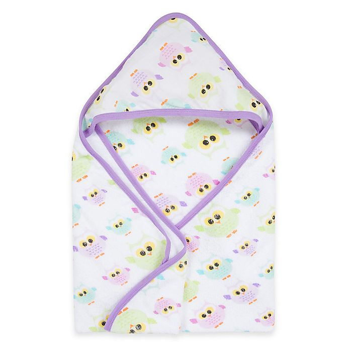 Alternate image 1 for MiracleWare Owls Muslin Hooded Towel