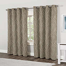 Finesse 84-Inch Grommet Top Window Curtain Panel Pair in Natural