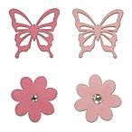 Little Haven 4-Piece Butterfly Letter Embellishment Set
