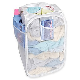 Deluxe Pop-Up Hamper in White