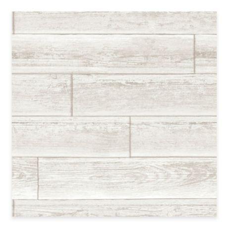Wallpops Nuwallpaper Wood Paneling Peel Stick Wallpaper In Cream Bed Bath Beyond