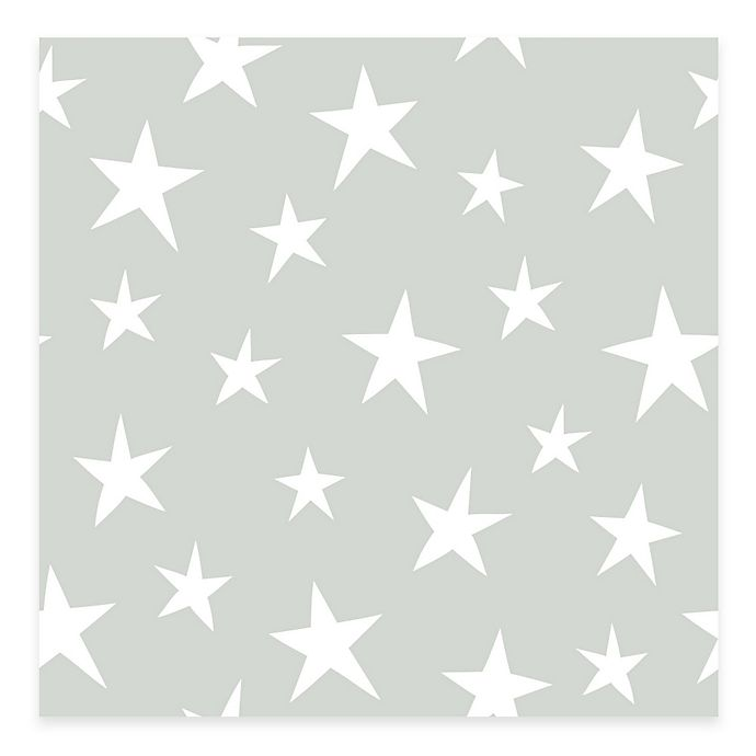 Alternate image 1 for WallPops!® NuWallpaper™ Stardust Peel & Stick Wallpaper in Grey