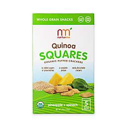 NurturMe 5-Pack 1.76 oz. Pineapple + Spinach Quinoa Squares Organic Puffed Crackers