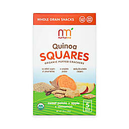 NurturMe 5-Pack 1.76 oz. Sweet Potato + Apple + Cinnamon Quinoa Squares Organic Puffed Crackers