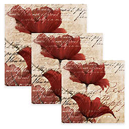 Pied Piper Creative Romantic Red Flowers Canvas Wall Art