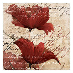 Pied Piper Creative Romantic Red Flowers 30-Inch x 30-Inch Canvas Wall Art