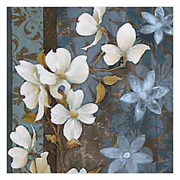 Pied Piper Creative Peaceful Flowers 16-Inch x 16-Inch Canvas Wall Art