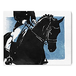 Oliver Gal 24-Inch x 16-Inch Horse and Rider II Canvas Wall Art