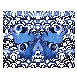 Oliver Gal Indigo Butterfly Canvas Wall Art