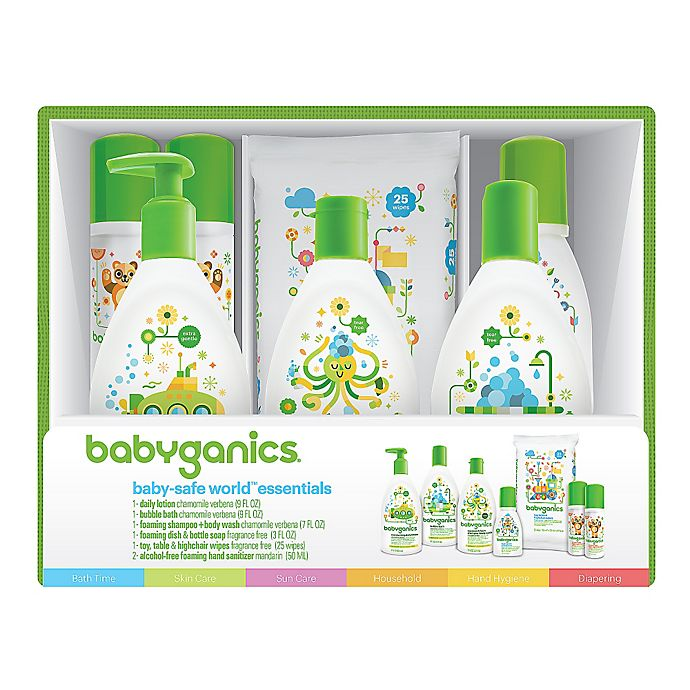 Alternate image 1 for Babyganics® Baby-Safe World™ Essentials Gift Set