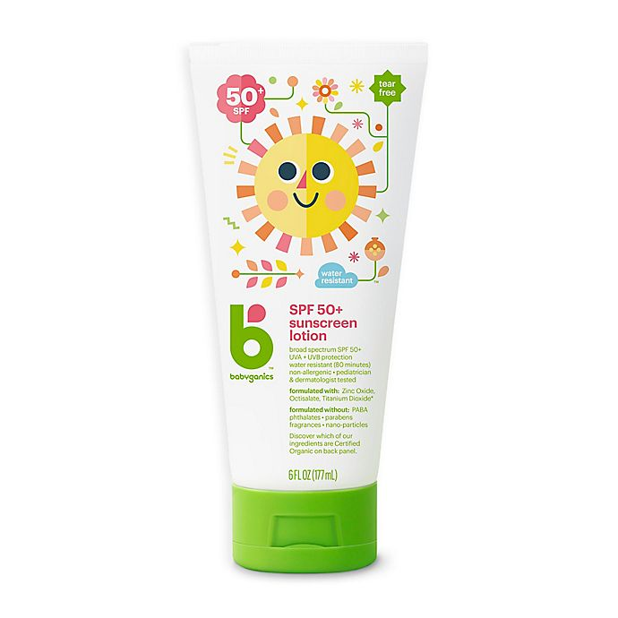 Alternate image 1 for Babyganics® 6 oz. 50+ SPF Sunscreen Lotion