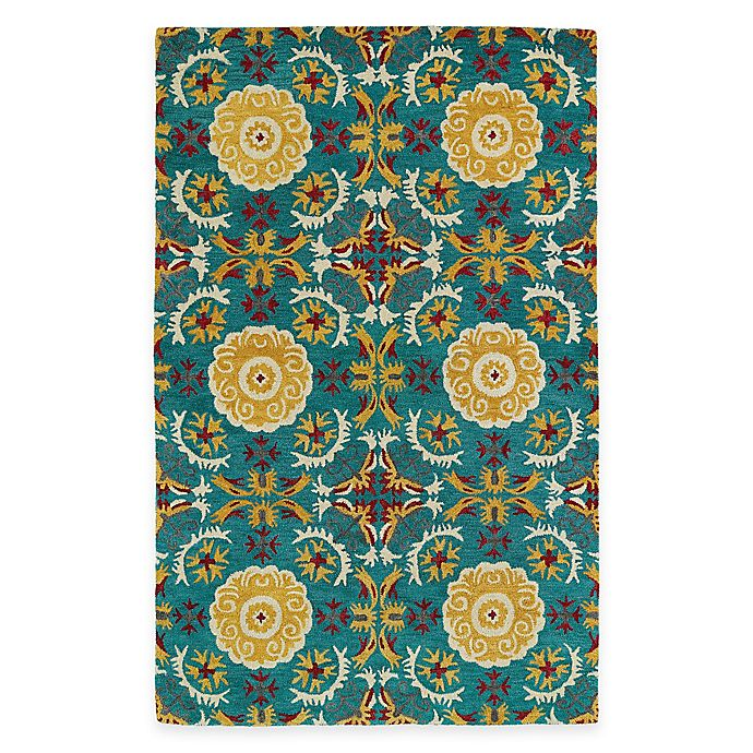 Kaleen Helena Turquoise Rug: Buy Kaleen Global Inspirations Floral Tile 2-Foot X 3-Foot