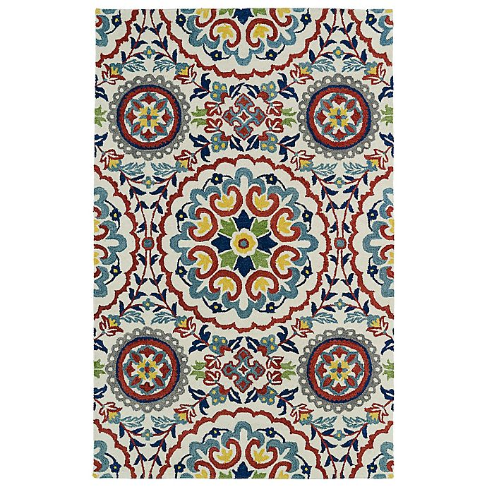 Alternate image 1 for Kaleen Global Inspirations Center Medallion 2-Foot x 3-Foot Accent Rug in Ivory