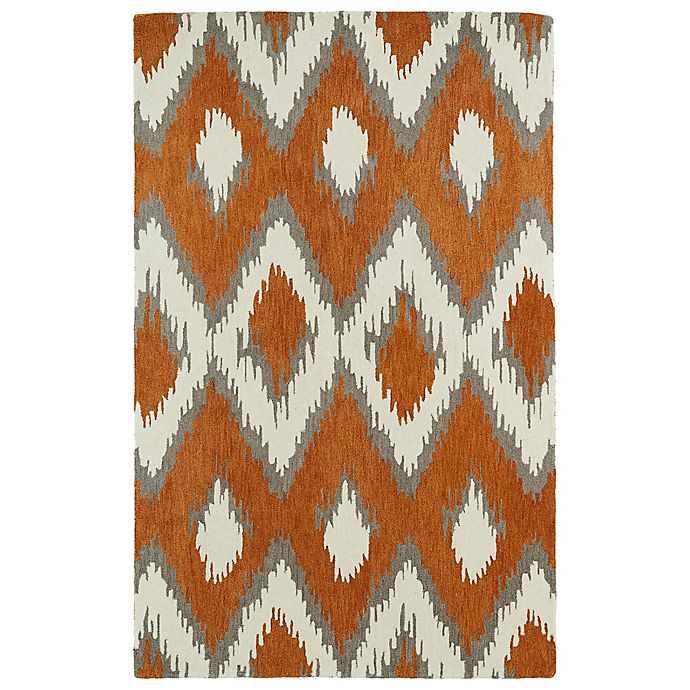 Alternate image 1 for Kaleen Global Inspirations Ikat 2-Foot x 3-Foot Accent Rug in Paprika