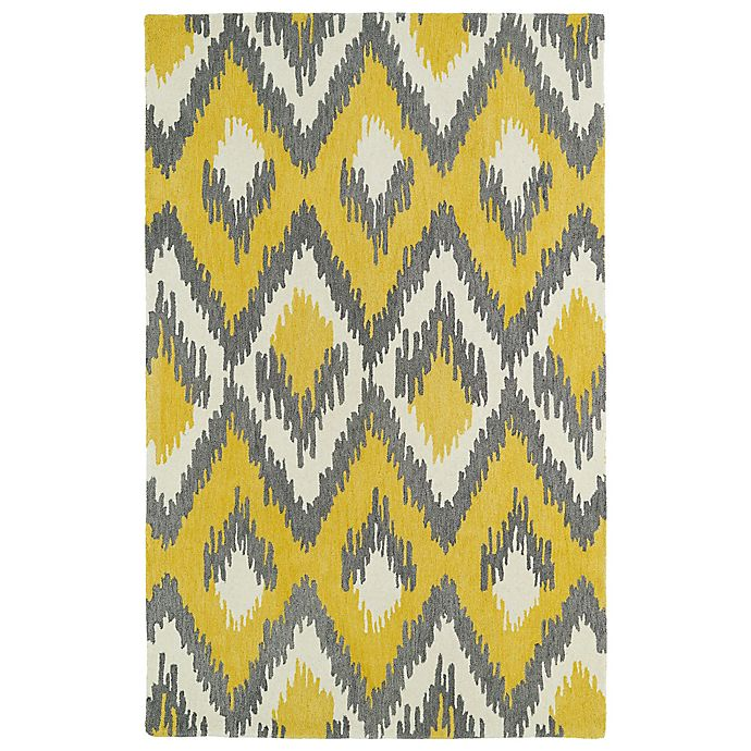 Alternate image 1 for Kaleen Global Inspirations Ikat 3-Foot 6-Inch x 5-Foot 6-Inch Area Rug in Yellow