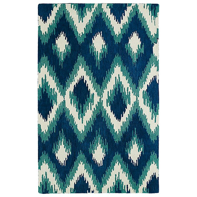 Alternate image 1 for Kaleen Global Inspirations Ikat 8-Foot x 10-Foot Area Rug in Blue