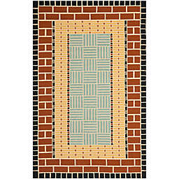 Safavieh Four Seasons Brick 3-Foot 6-Inch x 5-Foot 6-Inch Area Rug in Brown/Blue