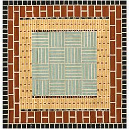 Safavieh Four Seasons Brick 6-Foot x 6-Foot Square Area Rug in Brown/Blue