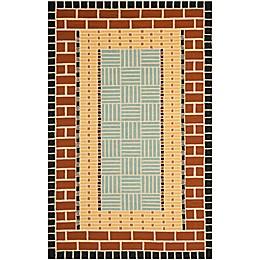 Safavieh Four Seasons Brick 8-Foot x 10-Foot Area Rug in Brown/Blue