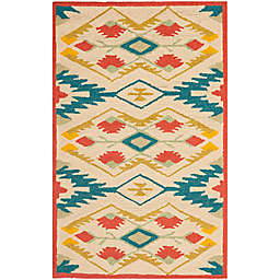 Safavieh Four Seasons Southwestern 2-Foot 6-Inch x 4-Foot Accent Rug in Natural/Blue
