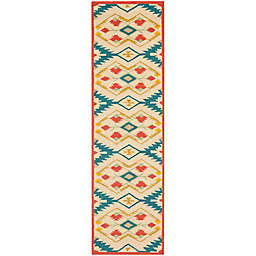 Safavieh Four Seasons Southwestern 2-Foot 3-Inch x 8-Foot Runner in Natural/Blue