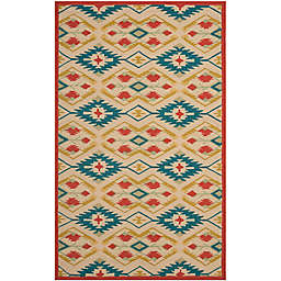 Safavieh Four Seasons Southwestern 3-Foot 6-Inch x 5-Foot 6-Inch Rug in Natural/Blue