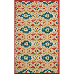 Safavieh Four Seasons Southwestern Rug in Natural/Blue
