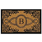 Nature by Geo Crafts Bristol 18-Inch x 30-Inch Monogrammed Letter  B  Door Mat in Natural Black
