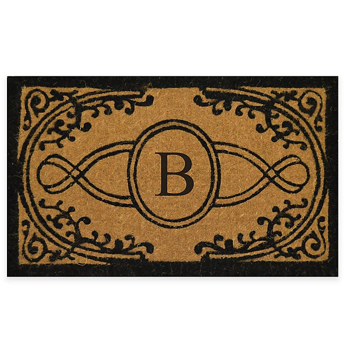 Alternate image 1 for Nature by Geo Crafts  Bristol 30-Inch x 48-Inch Monogrammed Letter \