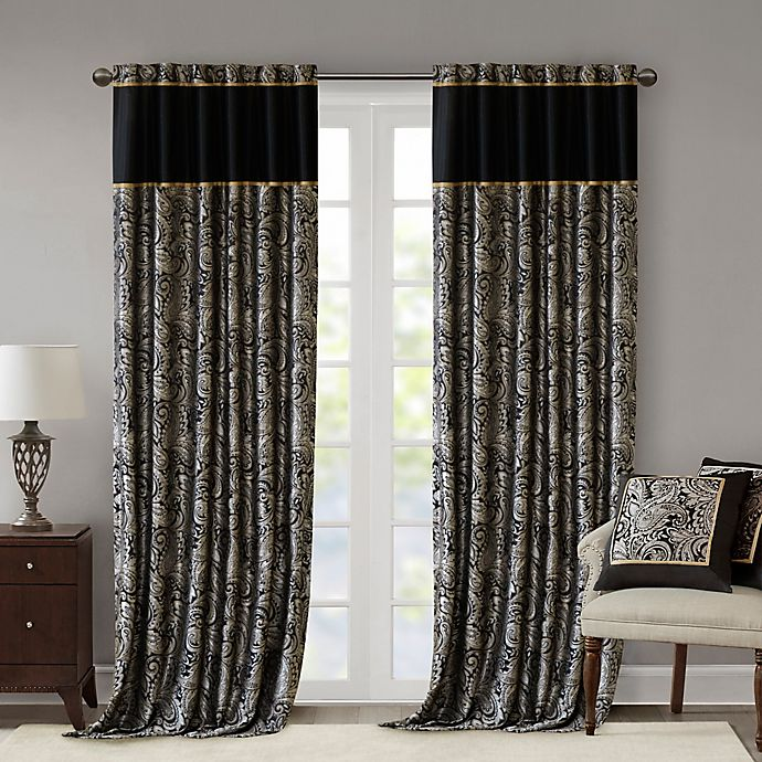 Alternate image 1 for Madison Park Aubrey 2-Pack Rod Pocket Window Curtain Panels