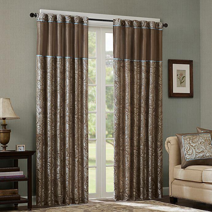 Alternate image 1 for Madison Park Aubrey 108-Inch Rod Pocket Window Curtain Panel Pair in Blue