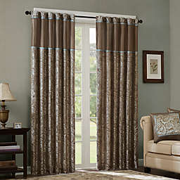 Madison Park Aubrey 108-Inch Rod Pocket Window Curtain Panel Pair in Blue