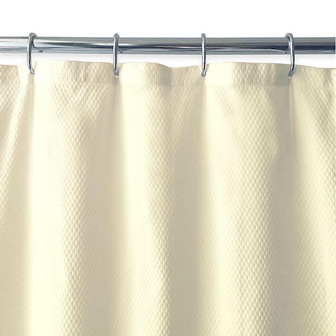 Alternate image 1 for Ella Microfiber Shower Curtain Liner in Ivory