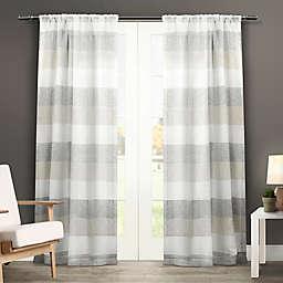 Bern 84-Inch Rod Pocket Window Curtain Panel Pair