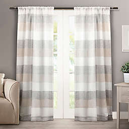 Bern 2-Pack 84-Inch Rod Pocket Window Curtain in Natural