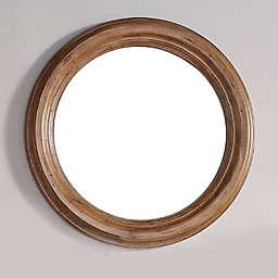 Malibu 40-Inch Round Mirror in Honey Alder