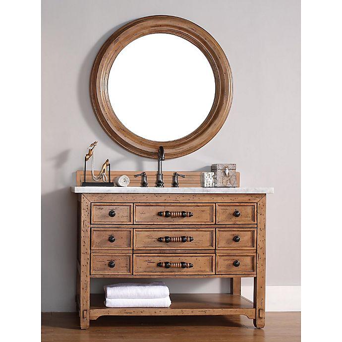 Alternate image 1 for Malibu 48-Inch Honey Alder Wood Single Vanity with Cararra White Stone Top